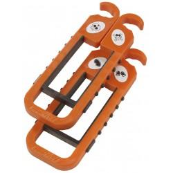 skibat orange et noir avec des stickers