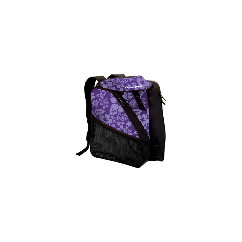 Sac à dos violet et noir.