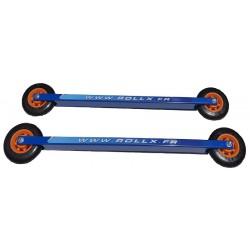 Rollerski skate training slow