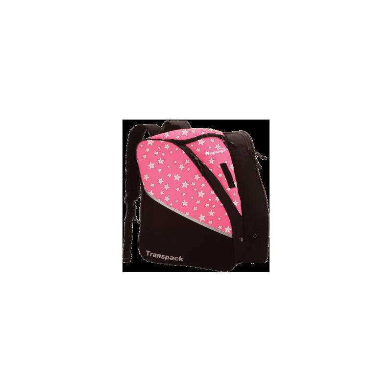 Sac à dos rose avec étoile et noire.