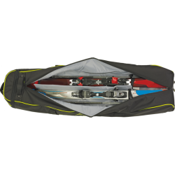Housse ouverte avec 2 paires de skis.